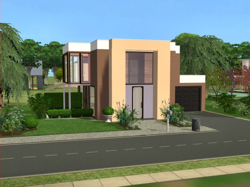 Haus modernes zuhause f r junge paare das gro e sims 3 for Modernes haus sims 4
