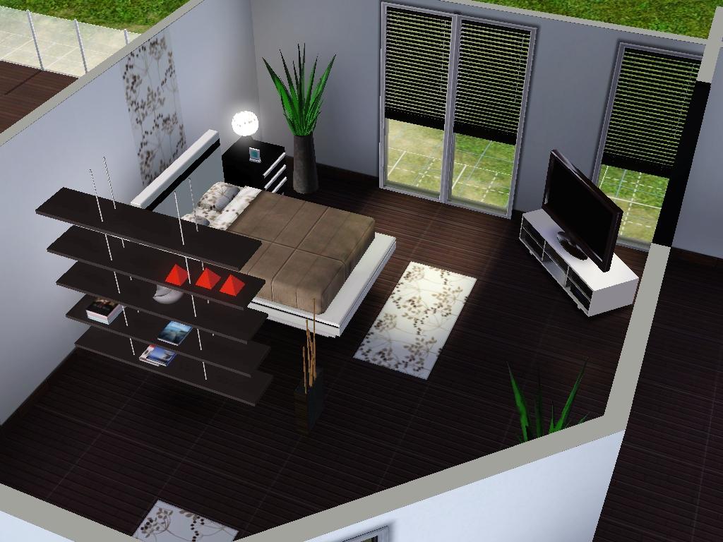 Sims 3 moderne einrichtung m bel ideen innenarchitektur for Modernes haus sims 3
