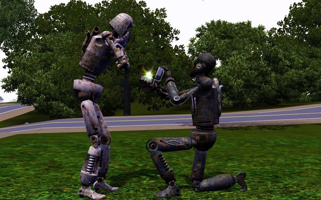 Heiratsantrag Roboter