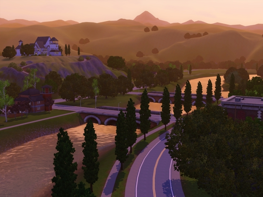 Sims 3 Riverview Sunset