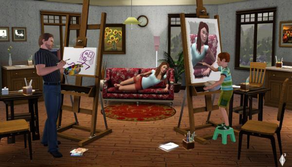 Sims Gemälde